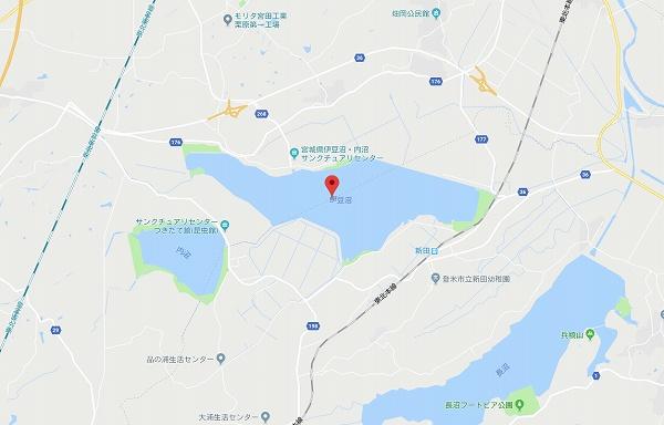 伊豆沼の地図