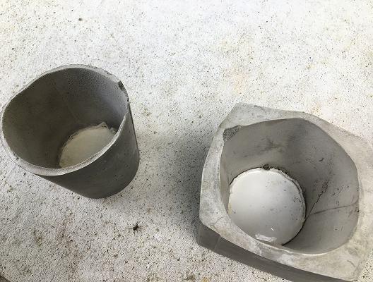 失敗セメント鉢